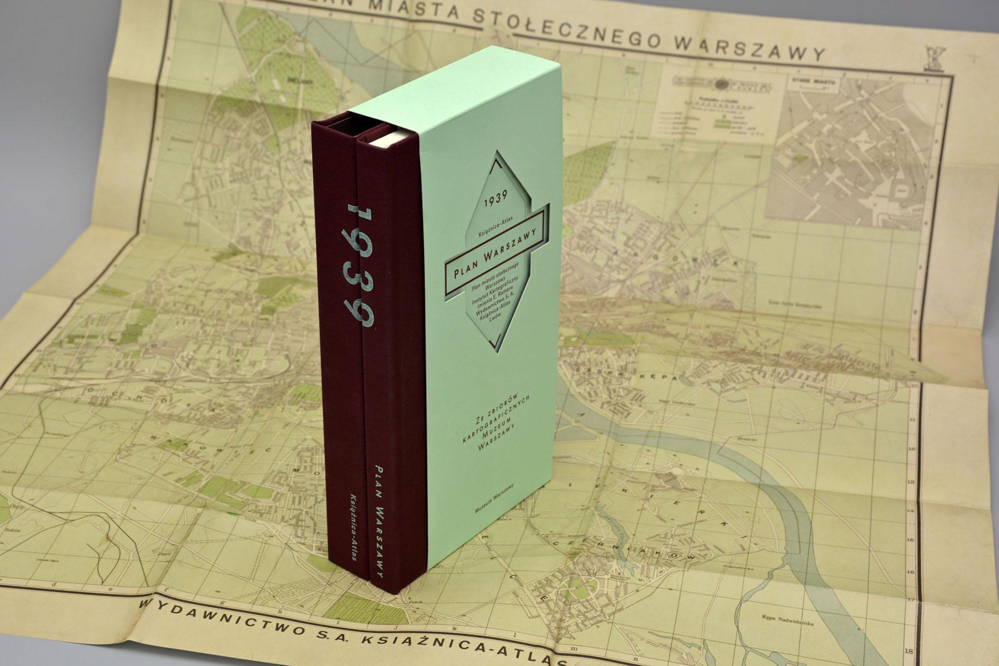 Plan Miasta Stołecznego Warszawy Książnicy-Atlas z 1939 roku