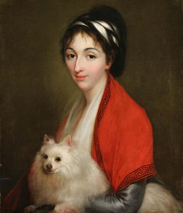 Élisabeth-Louise Vigée Le Brun, Portret Izabeli ks. Ogińskiej z Lasockich, Petersburg, ok. 1795–1800 r., MHW 17133