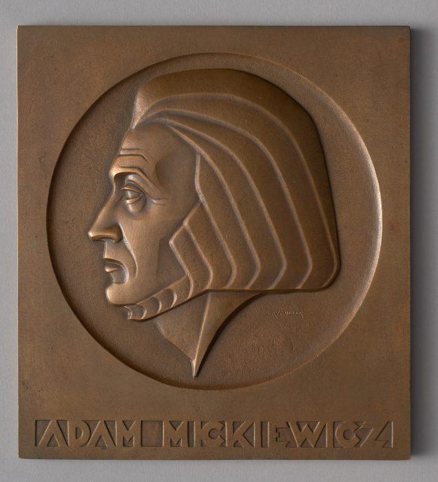 Plakieta - Adam Mickiewicz (1789-1855); 1932/1933,MHW 25592