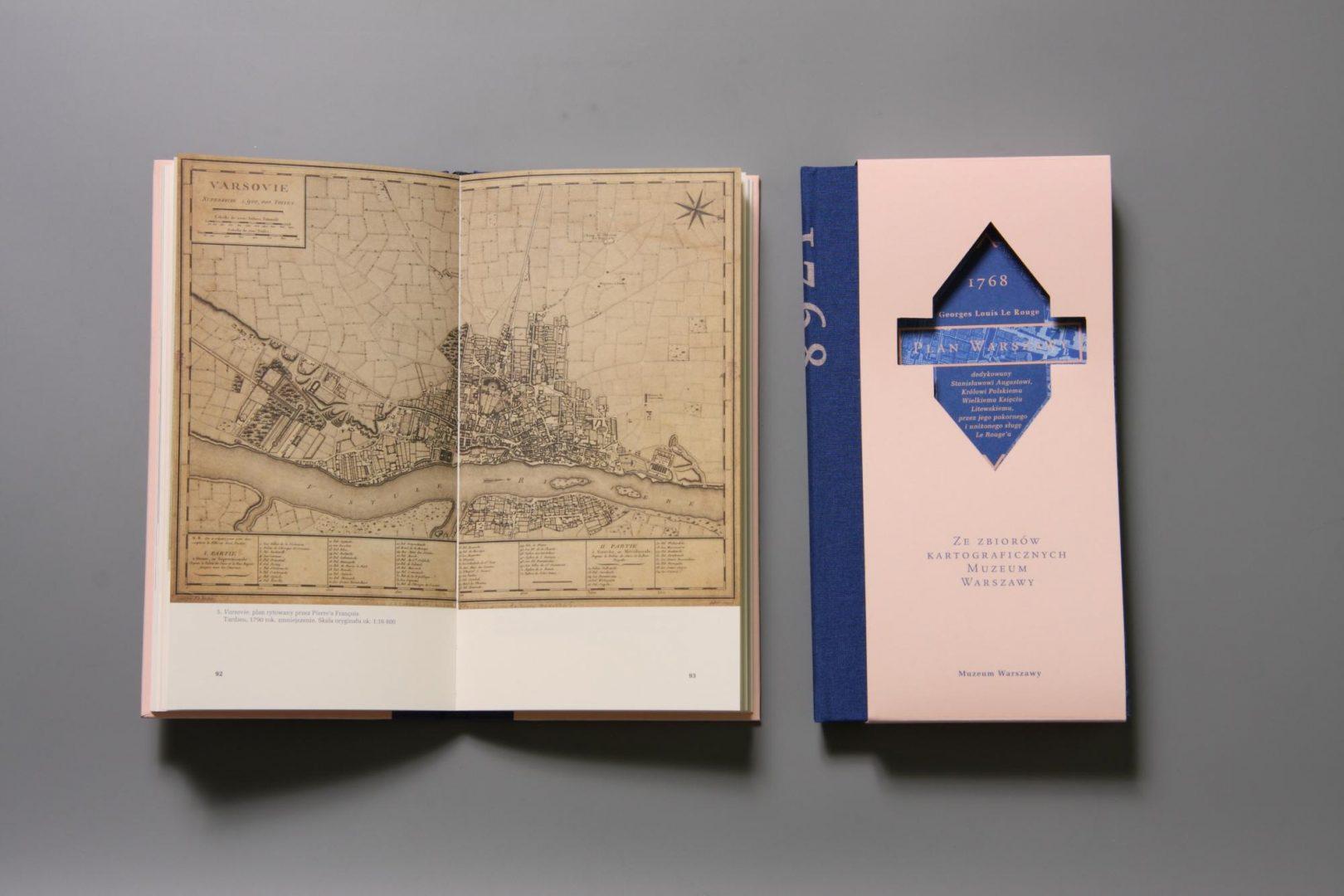 Plan Warszawy Georges'a Louisa Le Rouge'a z1768 roku