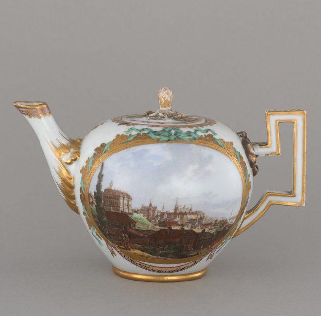 Czajniczek z widokami Warszawy i Pragi, MHW 17758