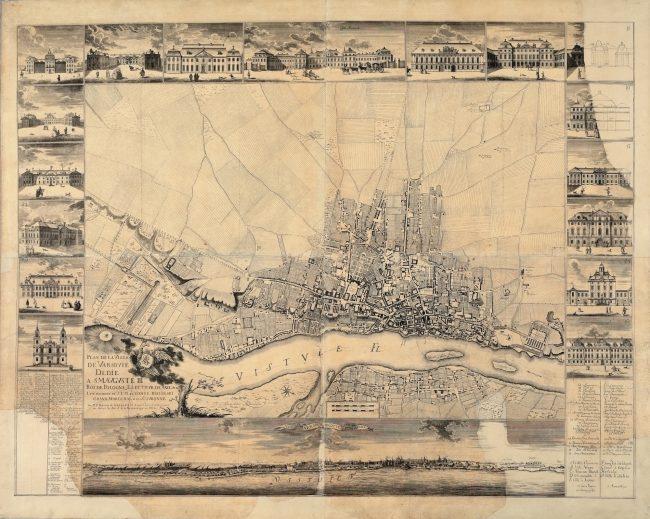 Tak zwany mały plan Tirregaille'a w skali ok. 1:6750 z 1762 roku, MHW 19