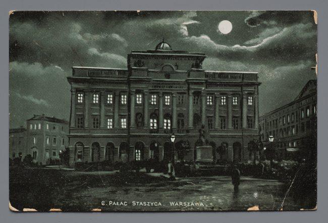 Pocztówka z pałacem Staszica
