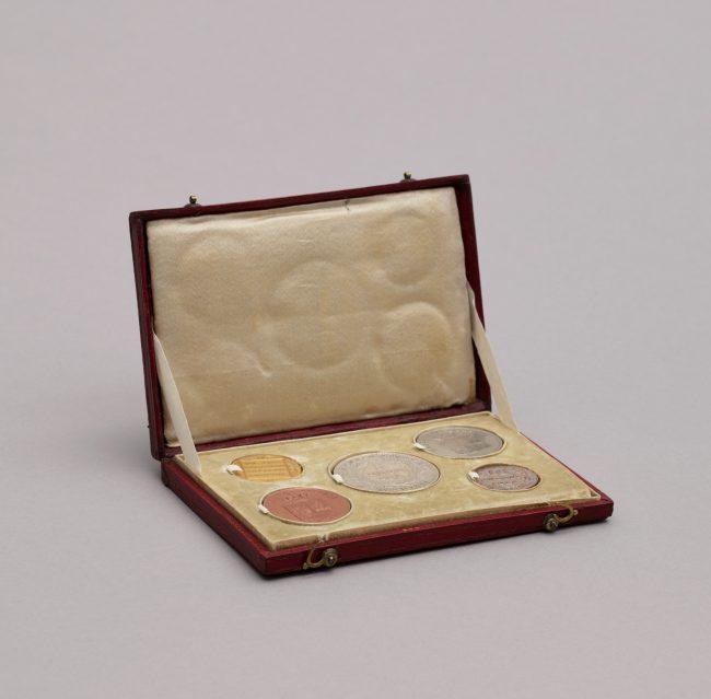 Kasetka z kompletem monet z czasu powstania listopadowego 1830-1831, MHW 1060