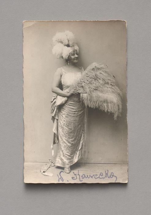 Pocztówka z portretem śpiewaczki Wiktorii Kaweckiej (1875–1929)