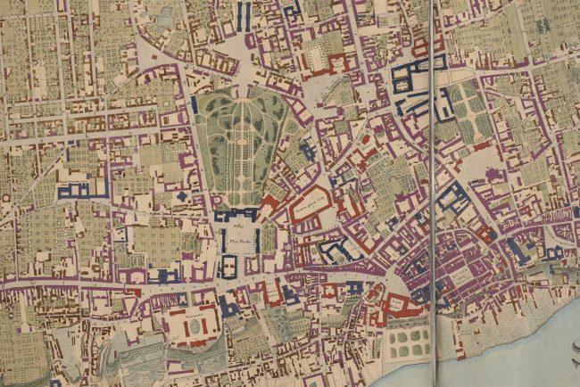 Plan miasta Warszawy Korpusu Inżynierów Wojskowych w skali 1:4800 z 1822 roku, MHW 7718_Pl