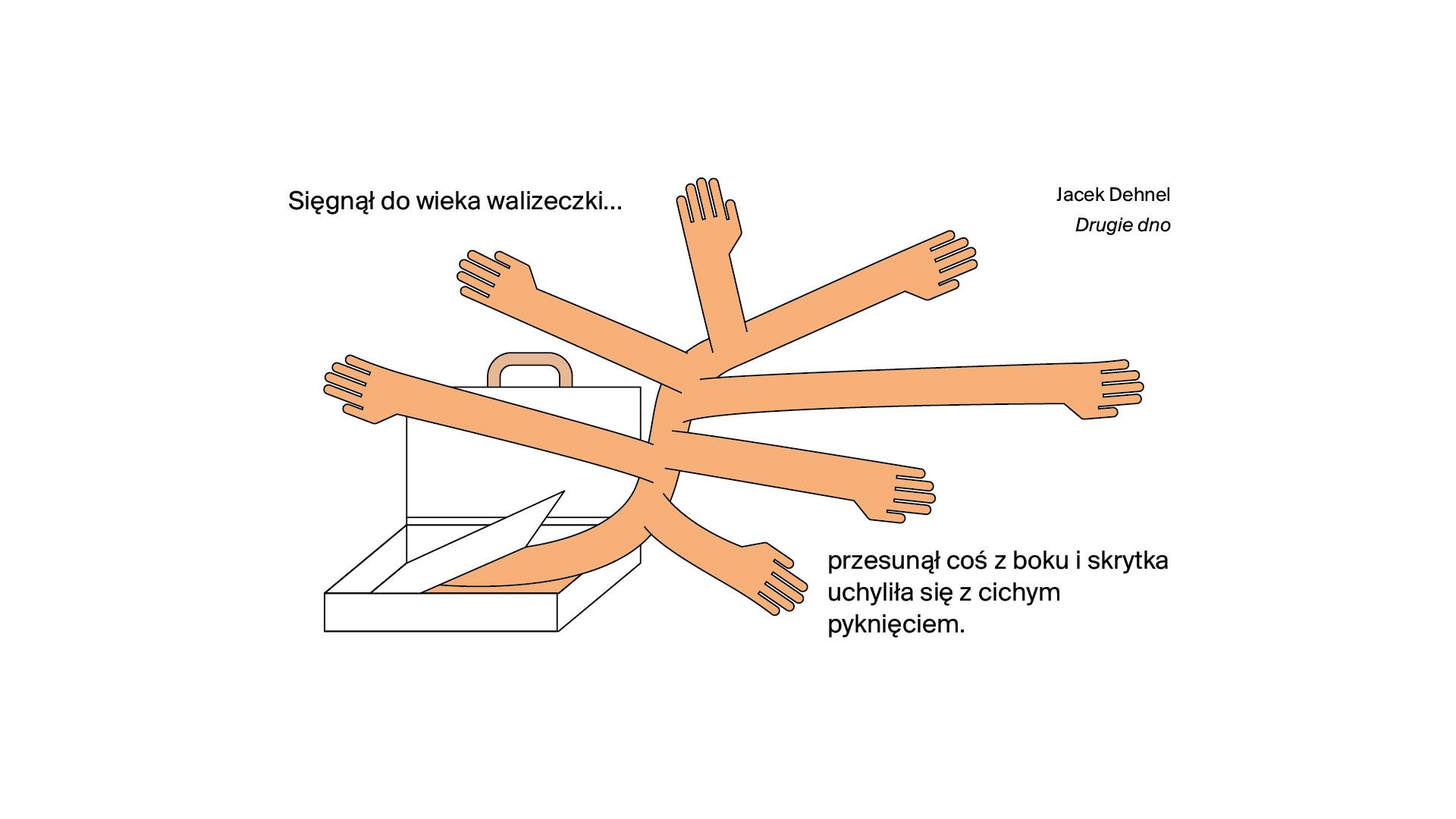 Rysunek Dominika Cymera z książki 20 rzeczy o Warszawie