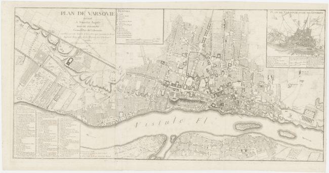 Plan Le Rouge'a w skali około 1 : 6900 z 1768 roku