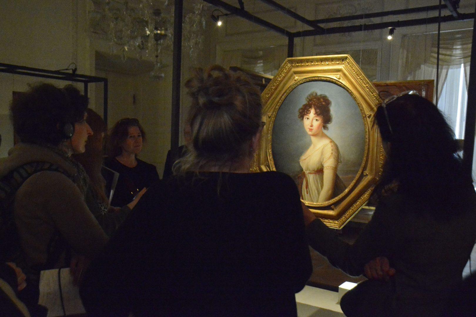 Wernisaż wystawy dzieł Élisabeth Vigée Le Brun wNieborowie