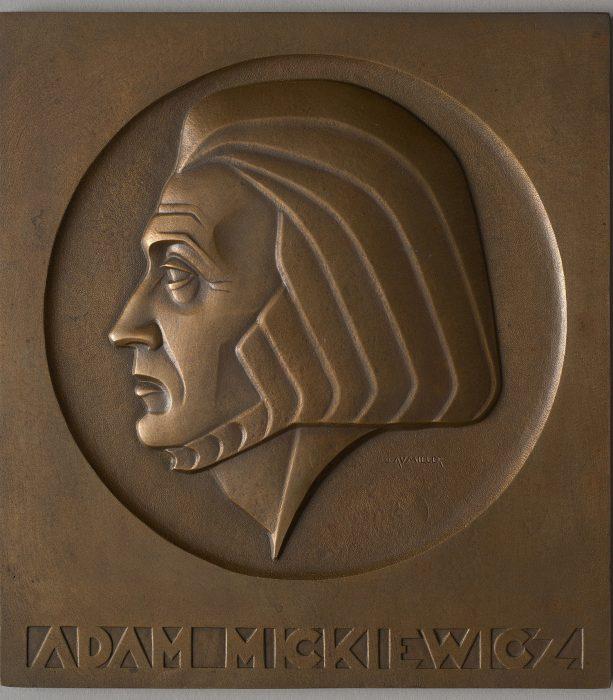Plakieta z profilem Adama Mickiewicza, MHW 25592