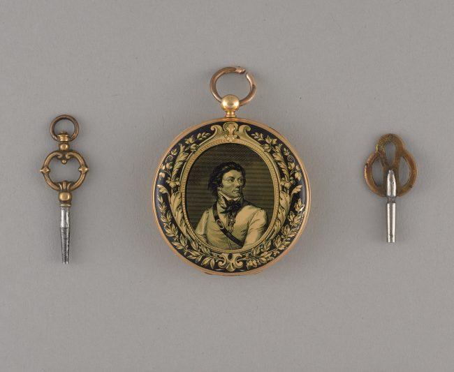 Zegarek kieszonkowy z portretem Tadeusza Kościuszki na kopercie, MHW 20261