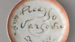Spodek zautografem Pabla Picassa zzastawy hotelu Bristol wWarszawie, MHW 19820