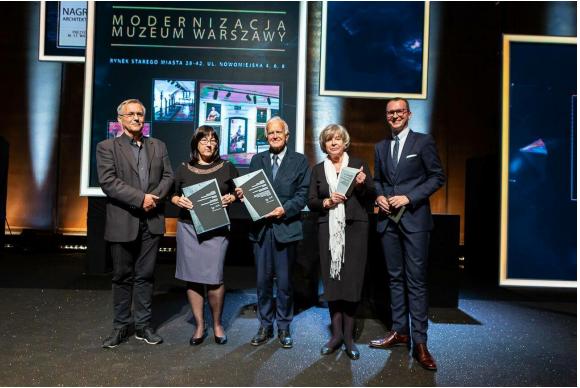 Nagroda Architektoniczna dla Muzeum Warszawy wkategorii najlepsza rewitalizacja!