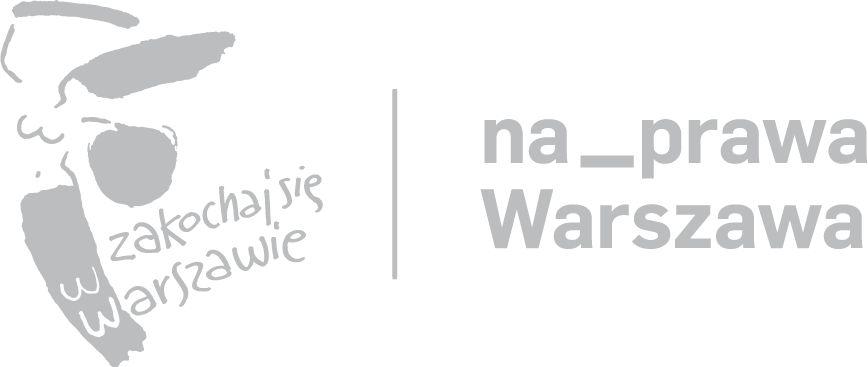 Logo Zakochaj się wWarszawie iprogramu Na_prawa Warszawa
