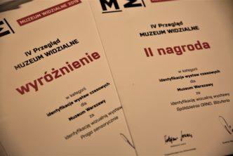 """Dwie nagrody wprzeglądzie """"Muzeum Widzialne"""""""