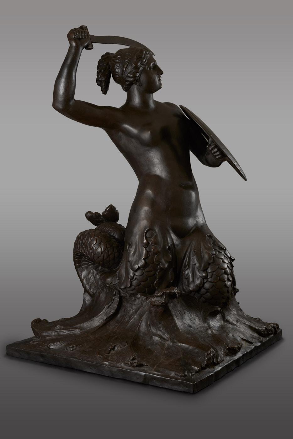 Fotografia pomnika syreny.