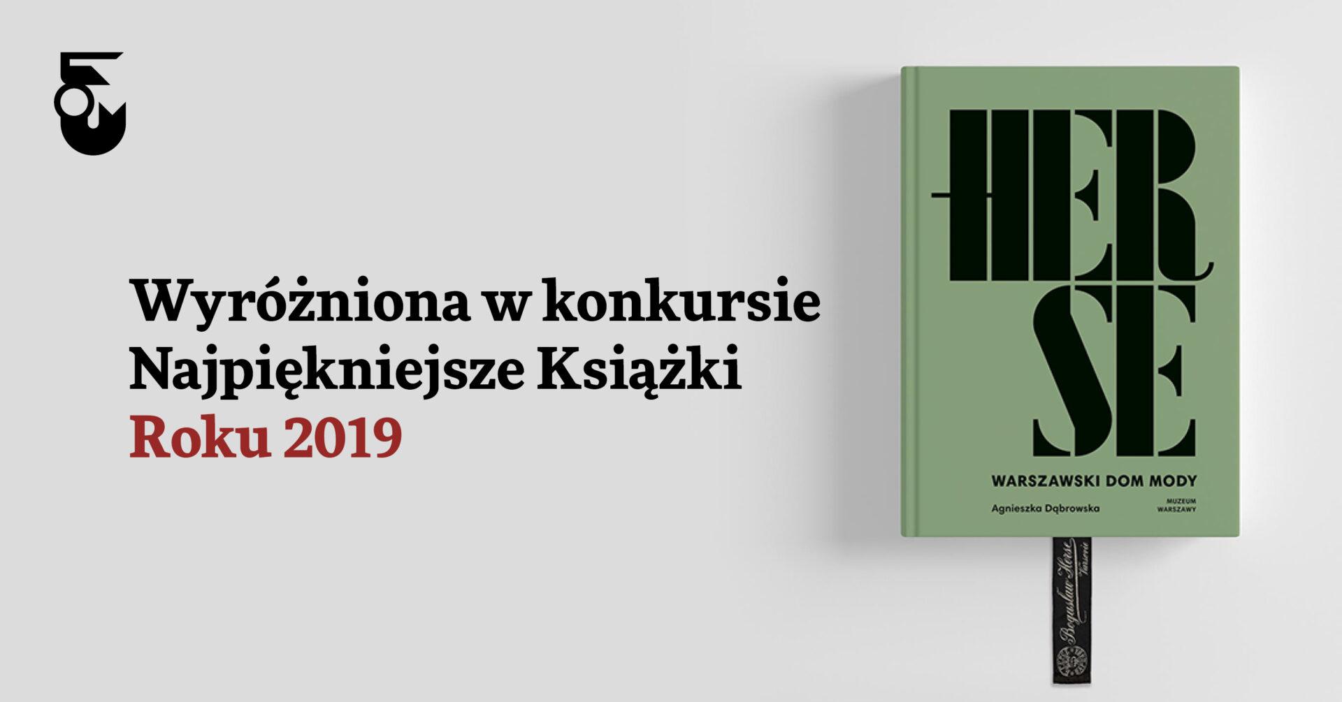 """""""Herse. Warszawski dom mody""""  najpiękniejszą książką 2019 roku"""