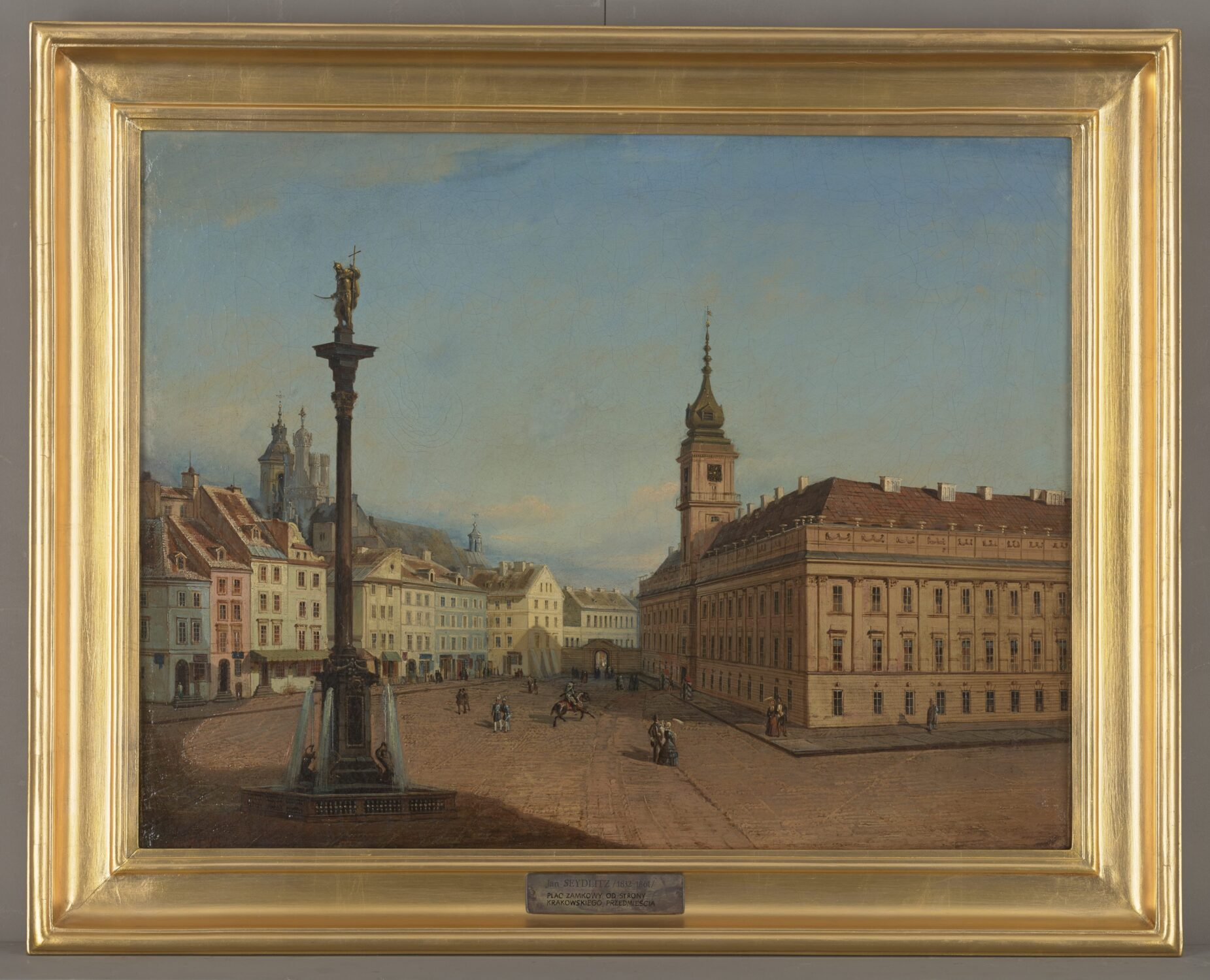 Obraz widok naPlac Zamkowy ikolumnę Zygmunta